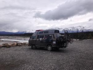 Kluane Range of snowy mountains