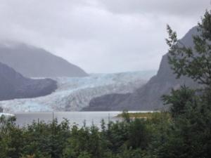 Mendenhall Glacier a hasty retreat