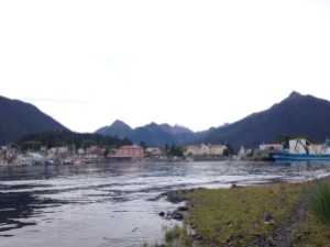 Sitka harbor from a geocache on islan
