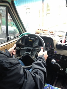 Steering wheel repair in ferry line