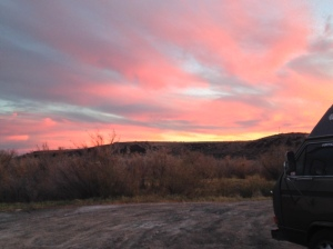 baker sunset sky
