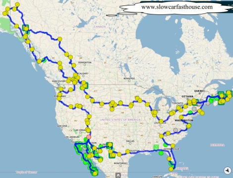 Map loop of North America by slowcarfasthouse