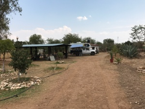 camped in the yard at posada valerio