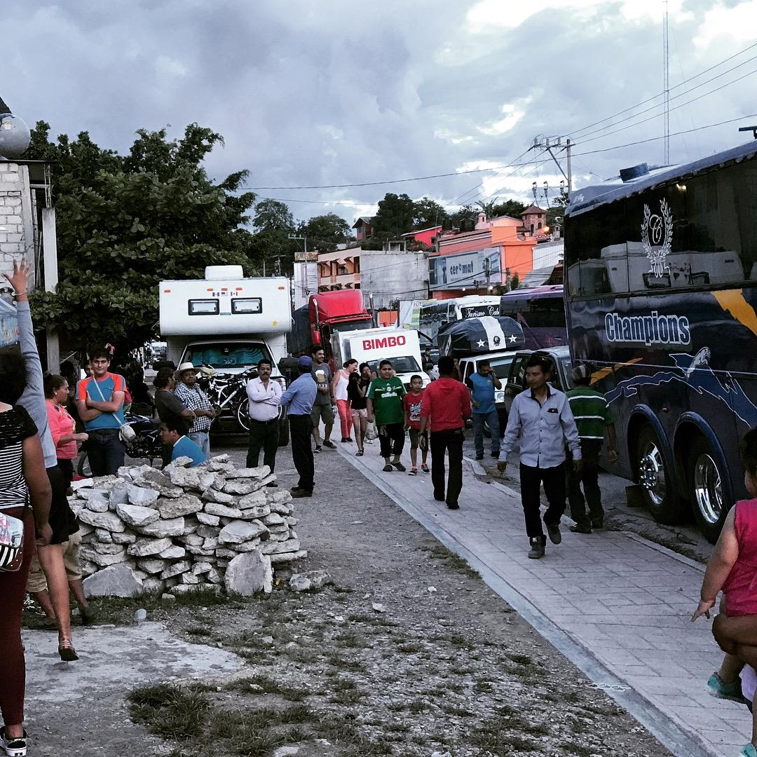 blockade peaceful street