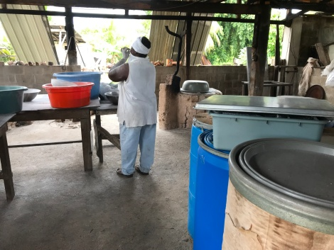 casava bread making
