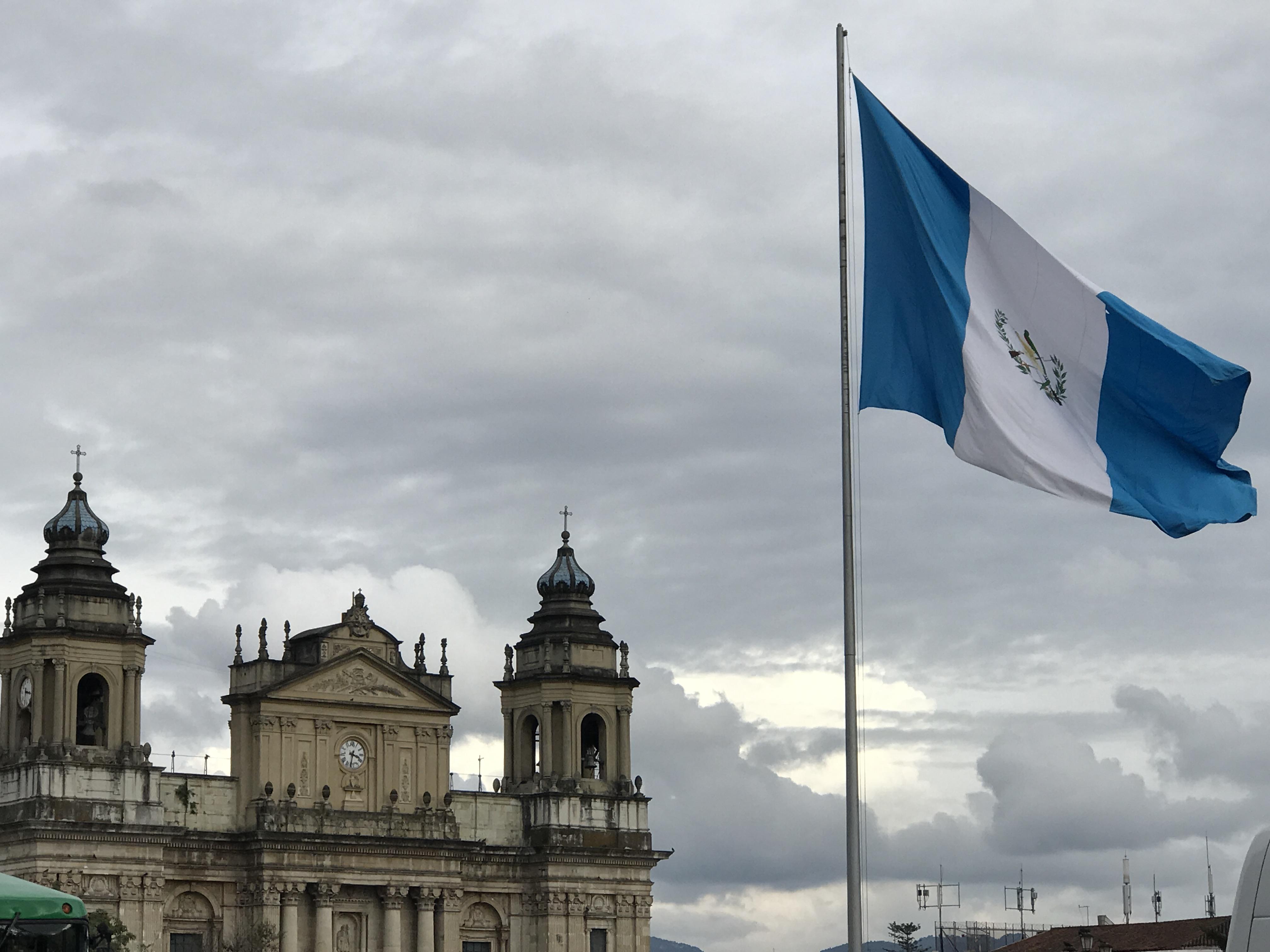 municipal palace and flag