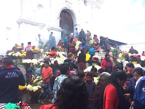 market at church
