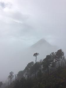 volcano hike cloud view
