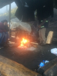 volcano hike fire