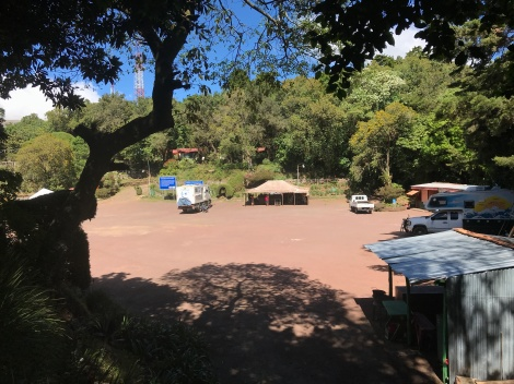 camped at volcano