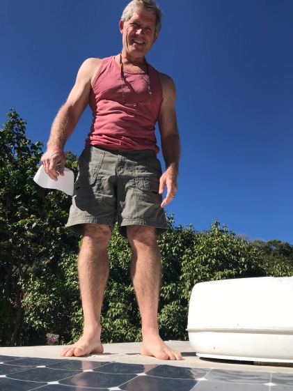 mike on roof