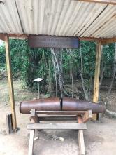 perquin bomb at hole