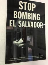 poster stop bombing el salv