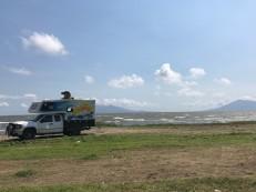 exiting campsite