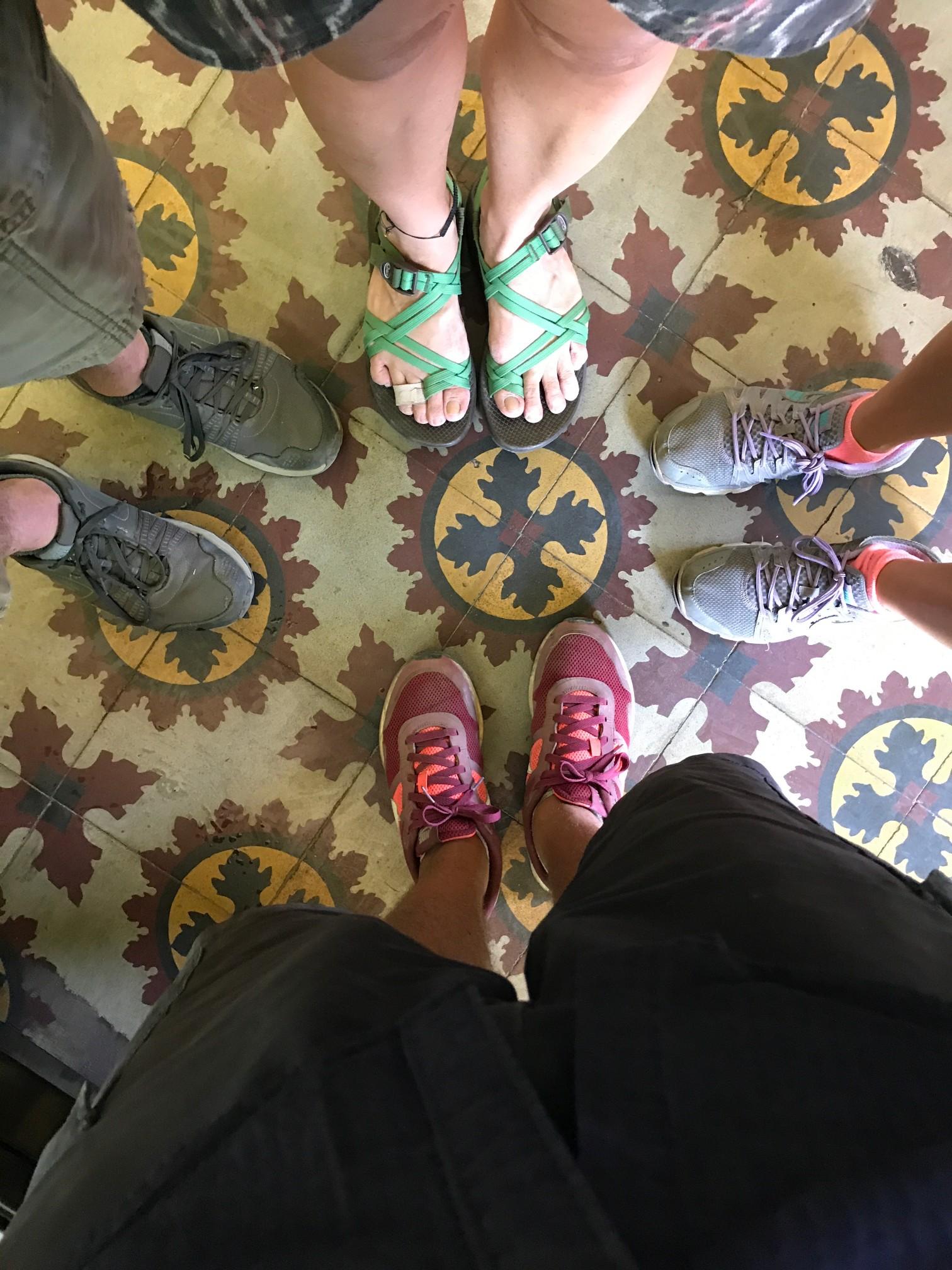 granada feet with friends