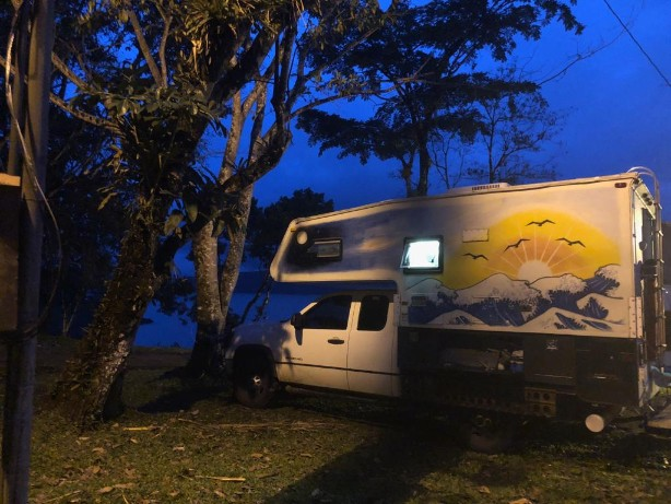 Arenal camper in the night