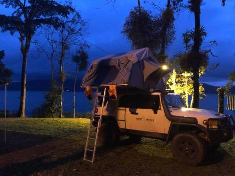 arenal lakefront campsite nomad america rig