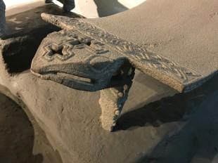 museum metate lizard