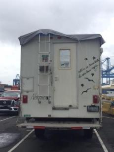 truck in port rear view