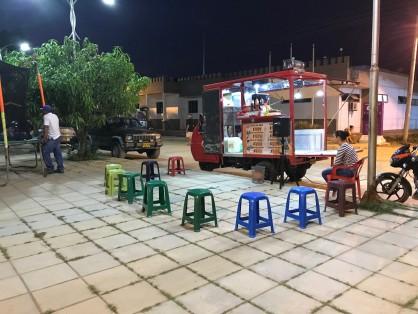 street ice cream stand